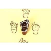Blockwallah blokstempel cactus