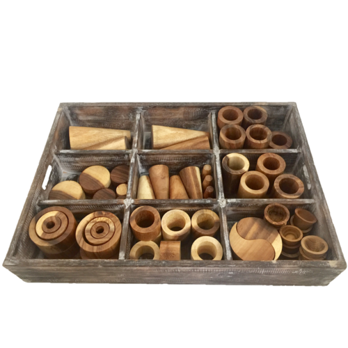 Papoose Toys Papoose Toys Loose parts box naturel