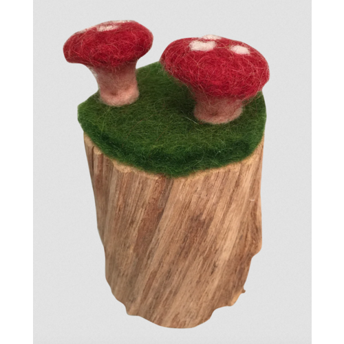 Papoose Toys Papoose Toys Boomstronk met 2 Paddenstoelen