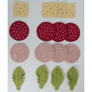 Papoose Toys Sandwich toppings 16 stuks
