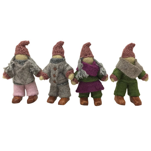Papoose Toys Papoose Toys Woodland familie kabouteer van vilt