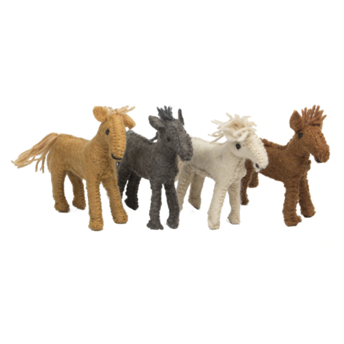 Papoose Toys Papoose Toys Vier Boerderijpaarden