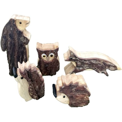 Papoose Toys Woodland houten dierenset