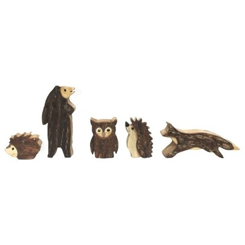 Papoose Toys Papoose Toys Woodland houten dierenset