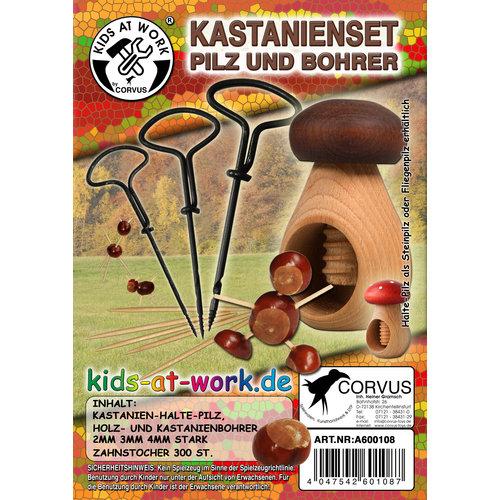 Kids at work kindergereedschap Kastanje knutselset 'Kids at work'