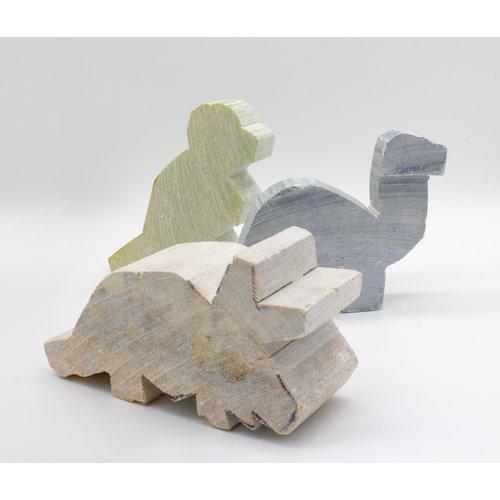 Kunstwerk Kunstwerk Speksteen Dinosaurus set