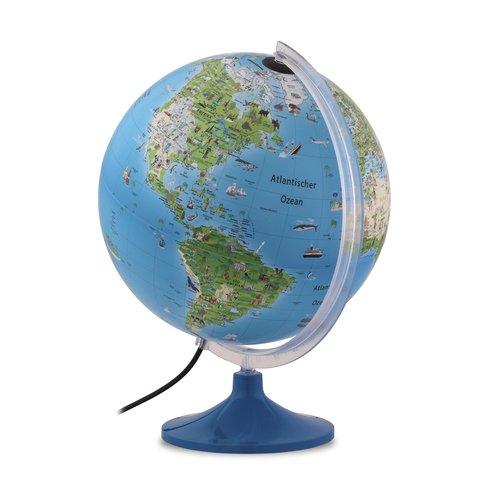 Atmosphere Atmospere kinderwereldbol met verlichting 30 cm