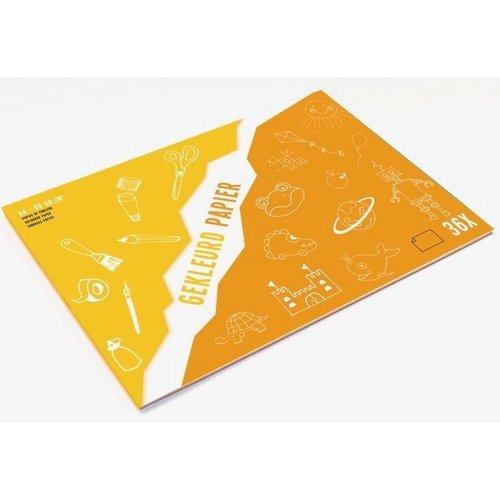 Knutselblok FSC papier in vele kleuren