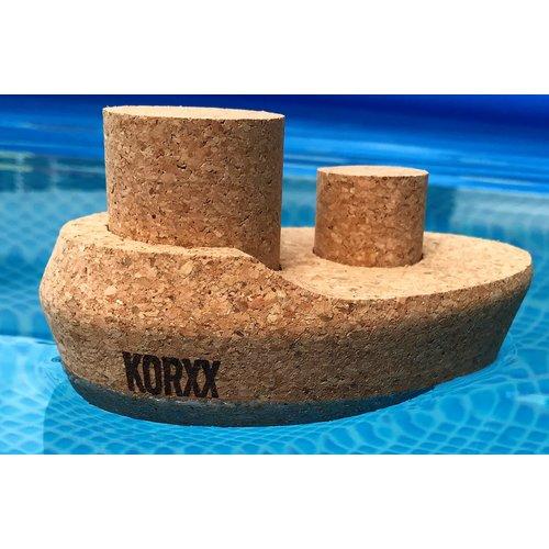KORXX kurk blokken Dampfer - Stoomboot naturel