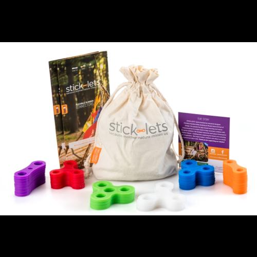 Stick-lets constructiemateriaal voor binnen en buiten Stick-lets Buurtpakket Kit 36 constructiestukken