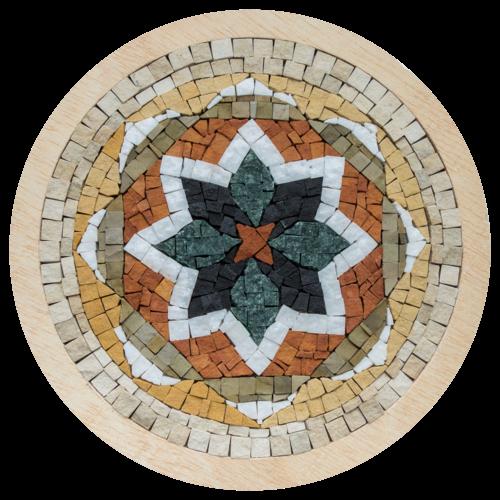 Neptune Mosaic Mosaicbox mozaiek Mandala 7 met lijst 20 cm