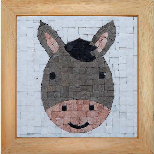 Neptune Mosaic Mosaicbox - Mozaiek met lijst Donkey Face 17 x 17
