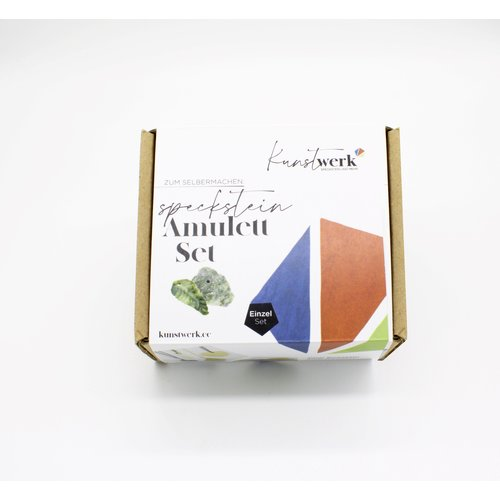 Kunstwerk Kunstwerk Amuletten set speksteen - 4 stuks
