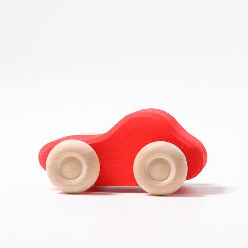Grimms houten speelgoed Zes auto's in diverse kleuren van Grimms