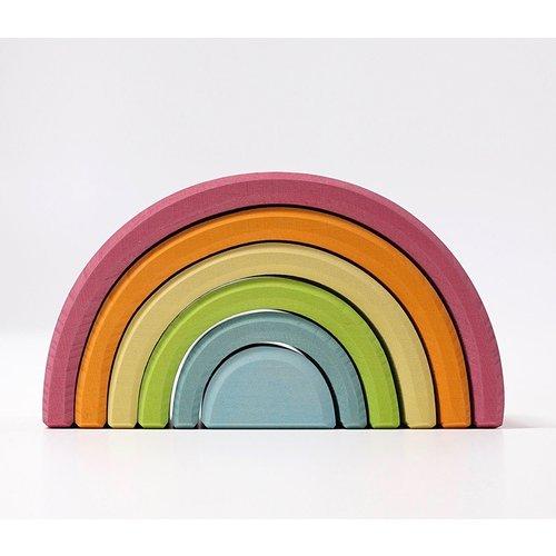 Grimms houten speelgoed Grimms Pastel regenboog 6-delig