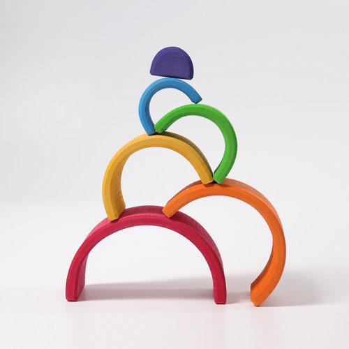 Grimms houten speelgoed houten regenboog klein - 6 elementen