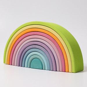 Grimms houten speelgoed Grimms Houten regenboog pastel