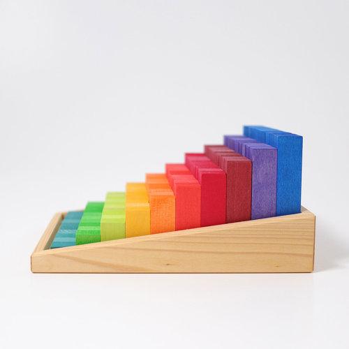 Grimms houten speelgoed Telblokken - in kleine stappen leren tellen