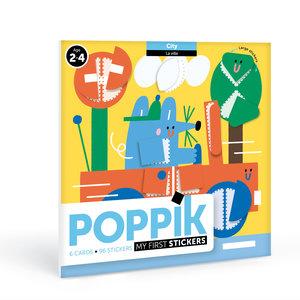 Poppik stickerkunst Poppik Mijn sticker kaarten - Stad