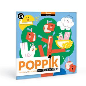 Poppik stickerkunst Poppik mijn sticker kaarten - natuur