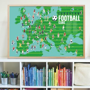 Poppik Poppik stickerposter voetbal