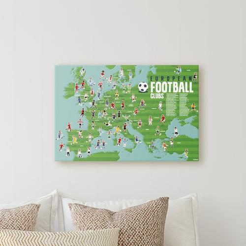 Poppik stickerkunst Poppik ontdekposter stickers voetbal