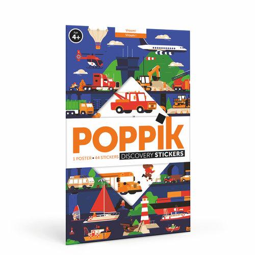 Poppik stickerkunst Poppik ontdekposter stickers voertuigen