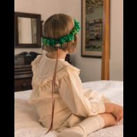 Sarah's silks hoofdkrans bos