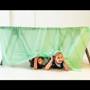 Sarah's Silk speelzijde Sarah's Silks speelkleed katoen groen