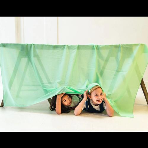Sarah's Silk speelzijde Sarah's Silks speelkleed 100% katoen groen