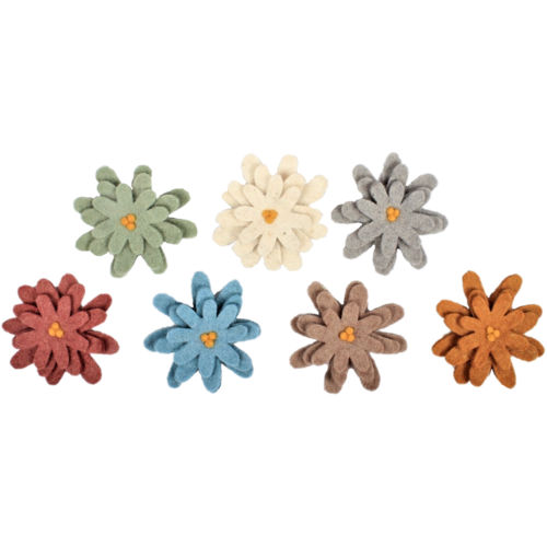 Papoose Toys Papoose Toys Earth aster bloemen 7 stuks