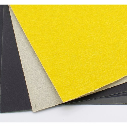 Kunstwerk Set van 4 stuks schuurpapier in A4 formaat