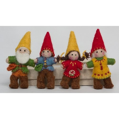 Papoose Toys Kabouter familie 4 stuks