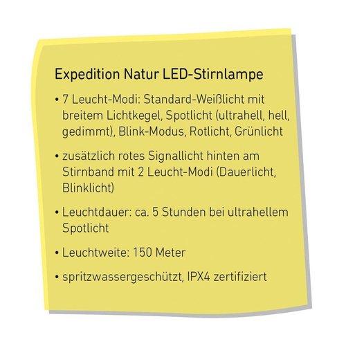Moses -expeditie natuur Expeditie Natuur LED hoofdlamp met achterlicht