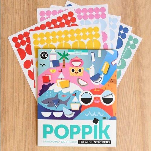 Poppik stickerkunst Poppik decoratieve stickerposter Seizoenen