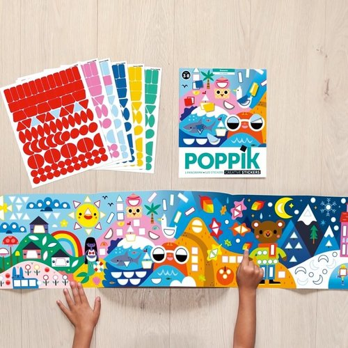 Poppik stickerkunst Poppik stickerpanorama seizoenen