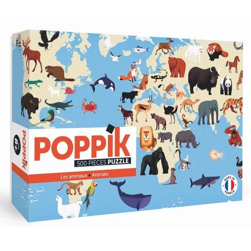 Poppik stickerkunst Poppik Puzzel animals - dieren