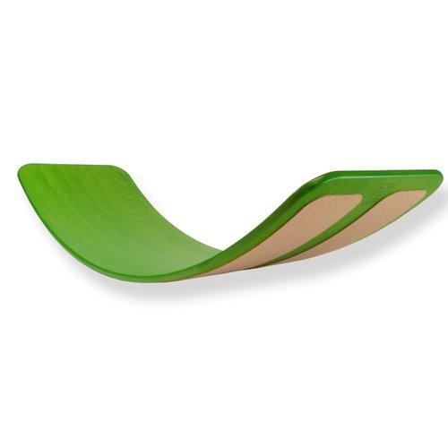 TicToys ecologisch beweegspeelgoed Das Brett flexibel balansbord groen kurk onderlaag