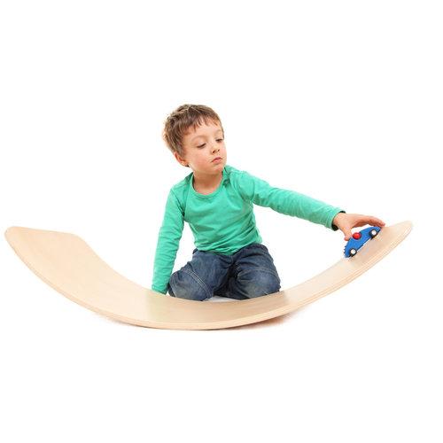 TicToys ecologisch beweegspeelgoed TicToys Das Brett flexibel balansbord geel