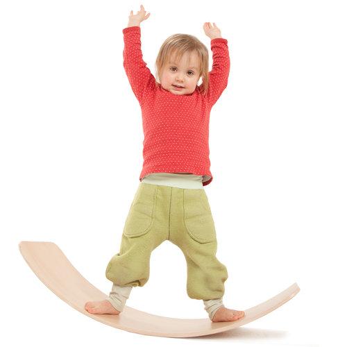 TicToys ecologisch beweegspeelgoed TicToys Das Brett flexibel balansbord geel kurk onderlaag