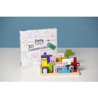 Stoere 3D dieren puzzel