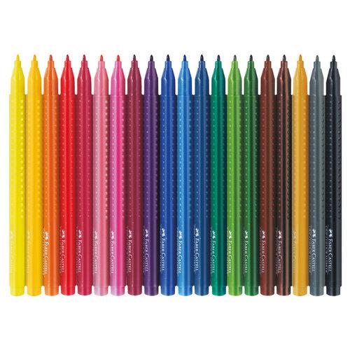 Viltstift Faber Castell Grip Colour etui a 20st.
