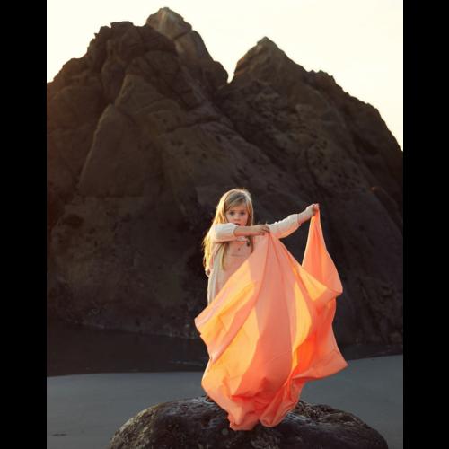 Sarah's Silks speelzijde Sarah's Silks speelkleed 100%  katoen oranje