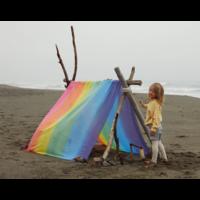 Sarah's Silks speelkleed katoen regenboog