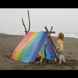 Sarah's Silks speelzijde Sarah's Silks speelkleed katoen regenboog