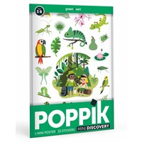 Poppik stickerposter mini groen