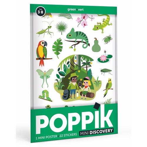 Poppik Poppik stickerposter mini groen - thema jungle
