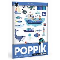 Poppik stickerposter mini blauw