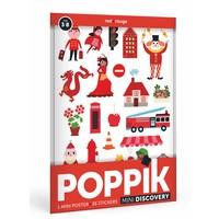Poppik stickerposter mini rood