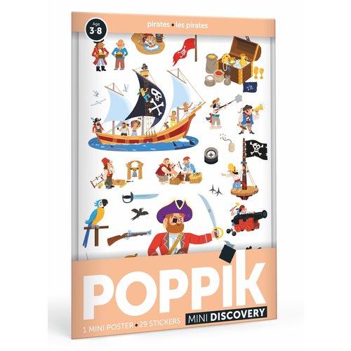 Poppik Poppik stickerposter mini - Thema piraten